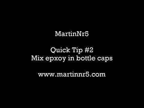 QT #2 - Mix epoxy in bottle caps