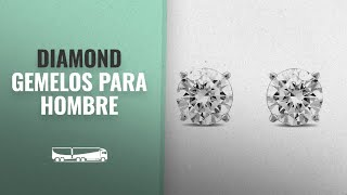 10 Mejores Ventas De Diamond: Diamond Jewel IGI Certified 14K Round Diamond 1 Carat TW Stud Earrings