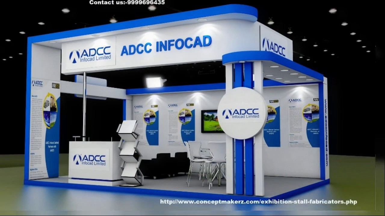 Fascia Board Exhibition Booth : Exhibition stall designer in delhi