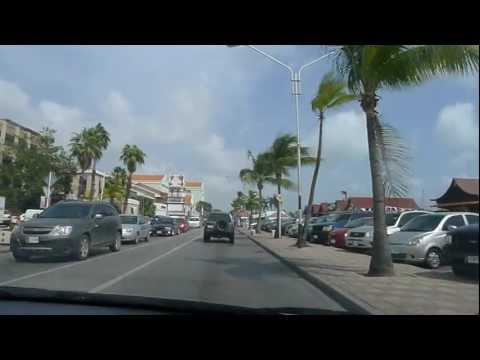 Driving Oranjestad Aruba