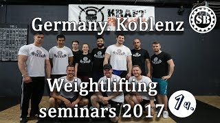Germany.Koblenz seminars 2017.Part1/S.BONDARENKO(Weightlifting & CrossFit)