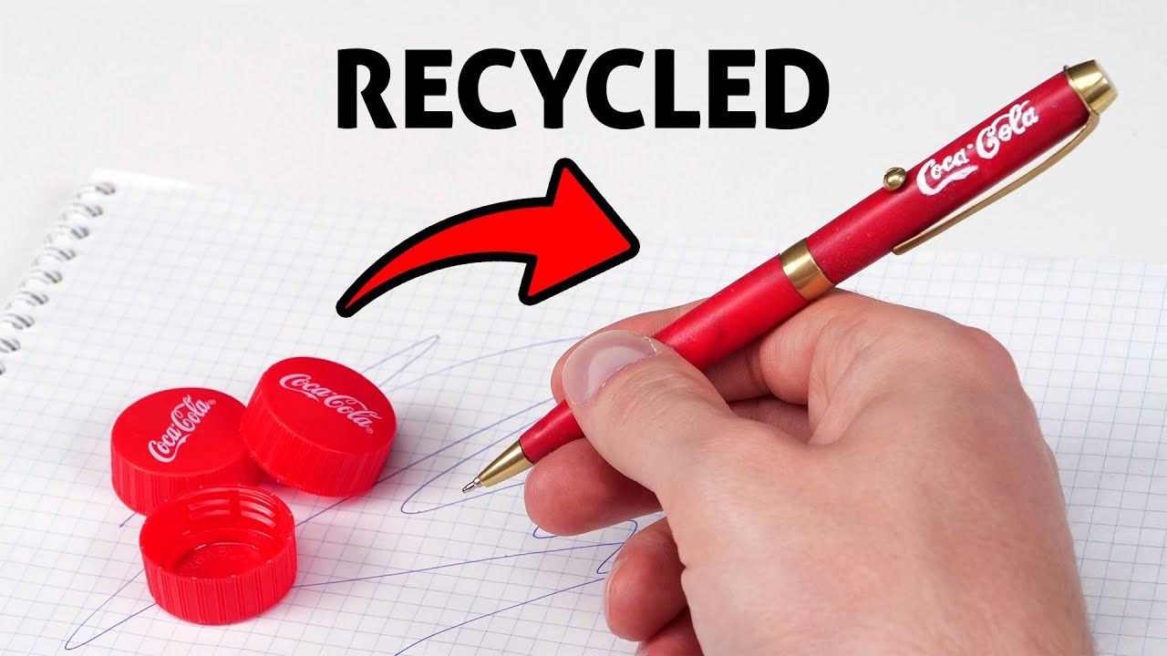 Download Recycled Pen Made out of Coca Cola Caps