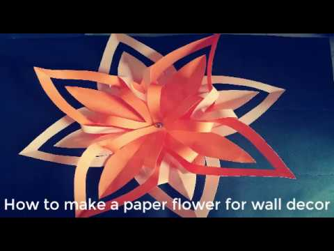 Origami Star Flower Making For Wall Decoration Easy Paper Crafts- Enlighten Crafts