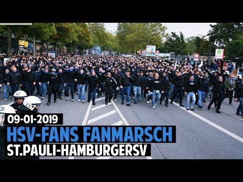 HSV-Fans Fanmarsch | FC St. Pauli - Hamburger SV 2019.09.16 | FCSP - HSV