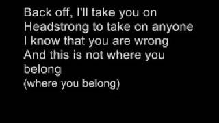 Repeat youtube video Trapt - Headstrong ( With lyrics )