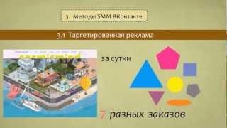 Урок №1 «SMM/SMO продвижение в социальной сети ВКонтакте — эффективная реклама»