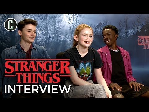 Stranger Things: Noah Schnapp, Sadie Sink, and Caleb McLaughlin Interview