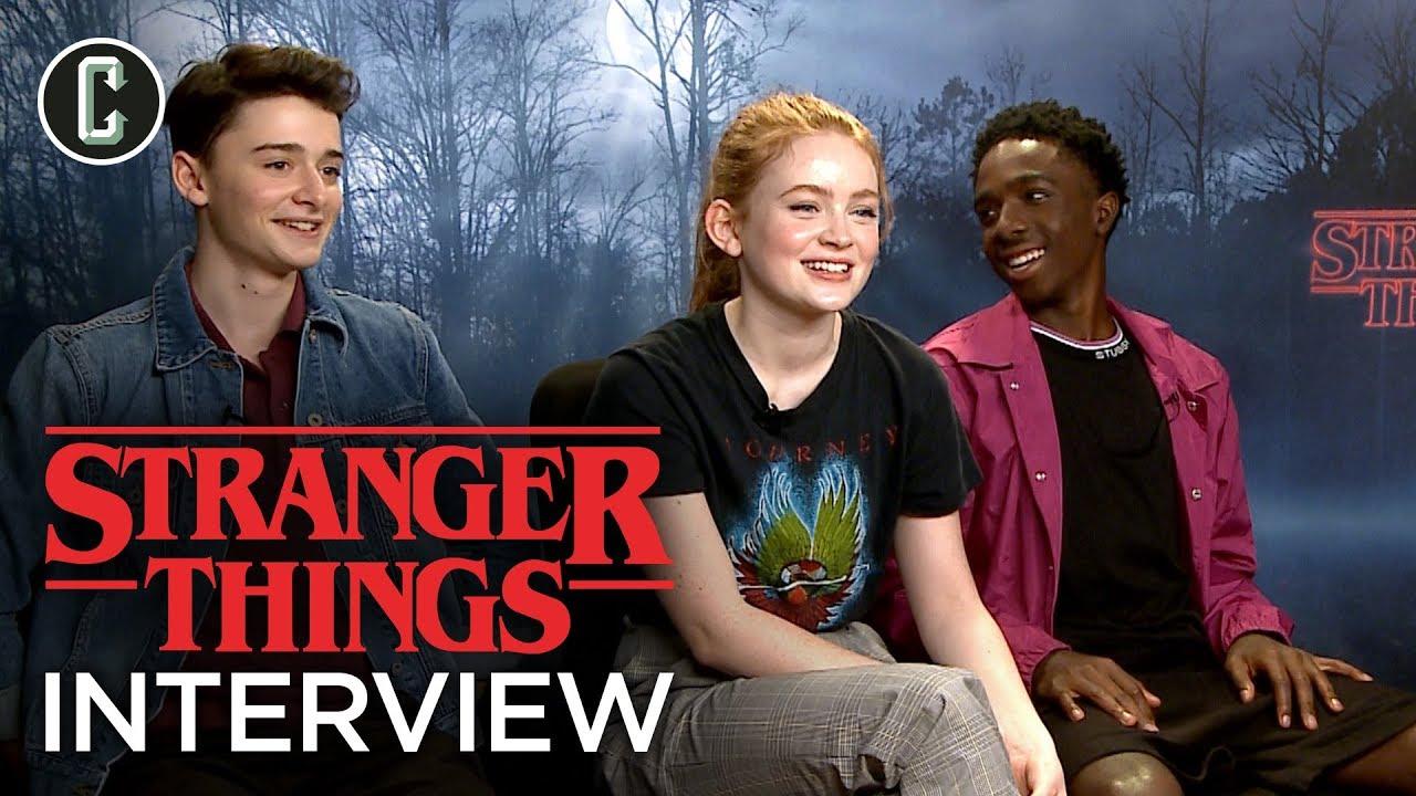 Stranger Things: Noah Schnapp, Sadie Sink, and Caleb McLaughlin Interview