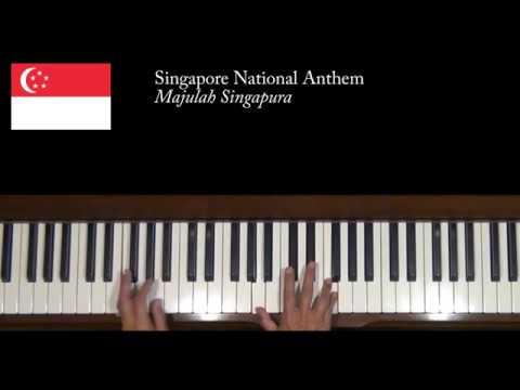 Singapore National Anthem Majulah Singapura Piano