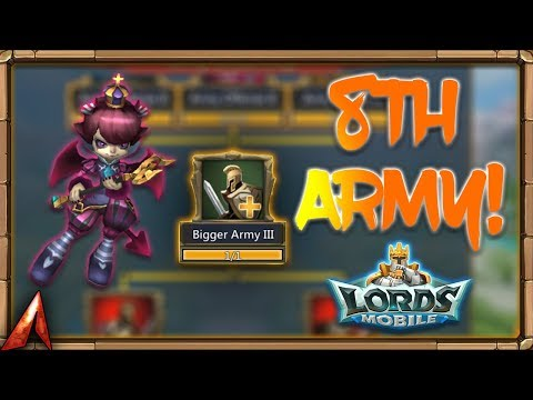 Lords Mobile - Unlocking My 8th Army!