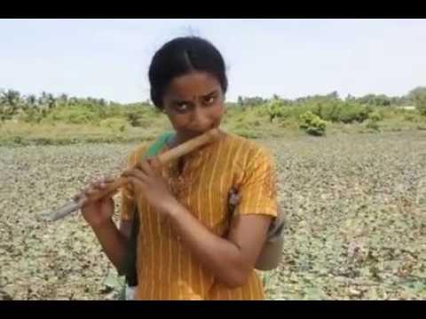 Tamil People Must Watch   Flute Music யாழ்ப்பாண #தமிழ் பெண்ணின் புல்லாங்குழல் இசை