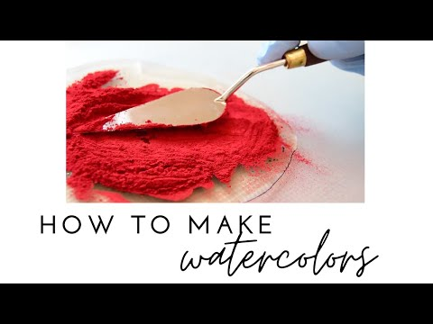 How To Make Watercolor Paints YOURSELF? -  Collab. Genzäh Watercolours