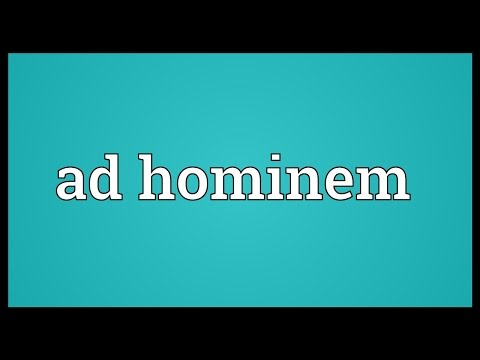 Ad hominem Meaning