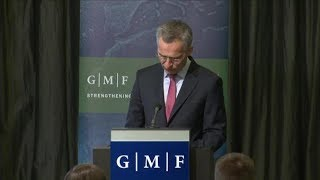 NATO Secretary General's keynote address and family portrait at GMF event