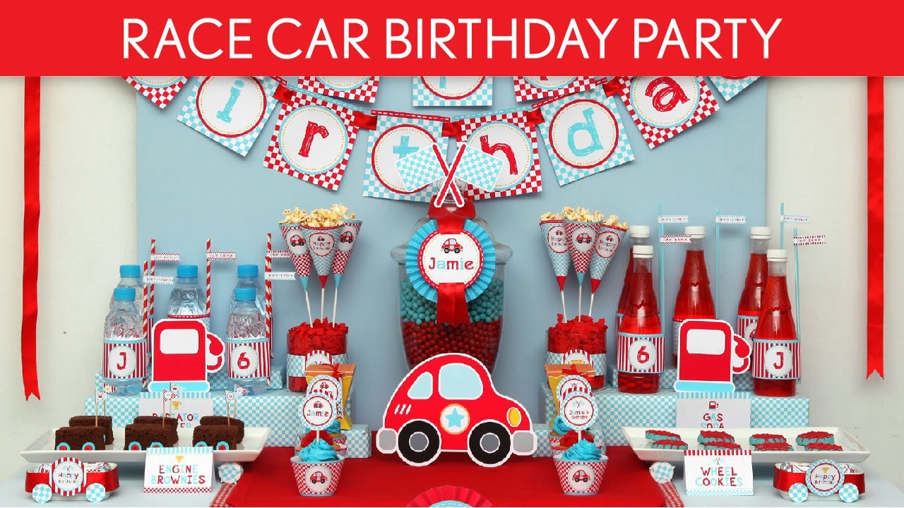 Race Car Birthday Party Ideas Cute Race Car B36 Youtube