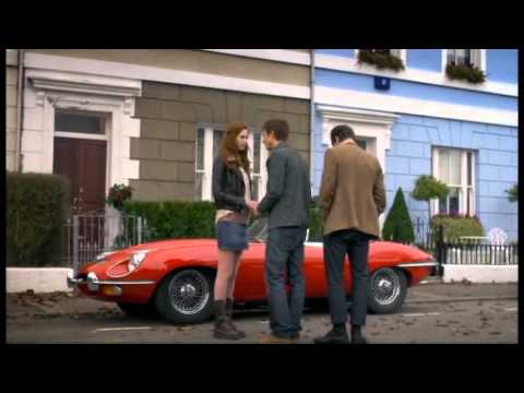 Classic Motoring's Red Jaguar E-Type Sports Car on Doctor Who