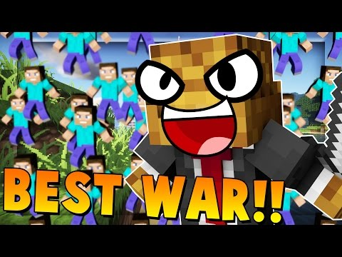 MOST EPIC WAR EVER vs 100+ Fans | Minecraft - Modded Fan Bat