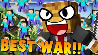 Most Epic WAR Ever - Minecraft Fan Battle vs 100+ Fans