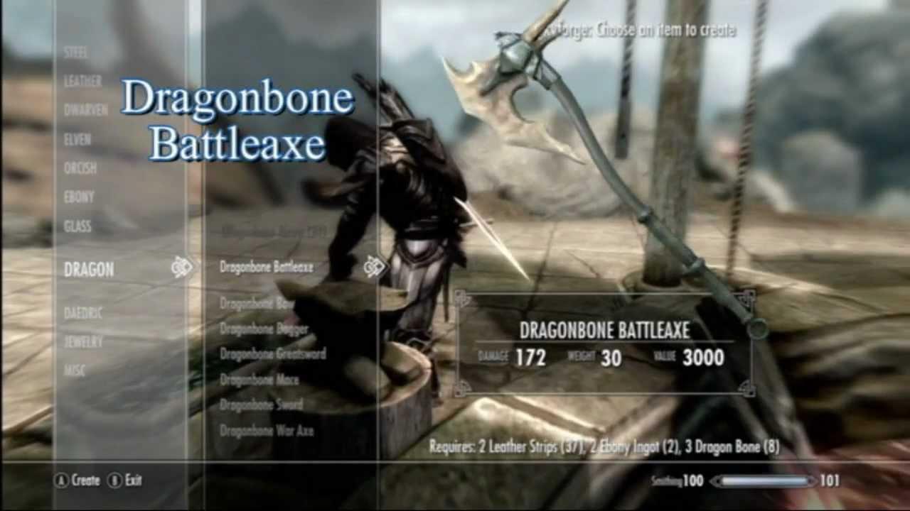 Dawnguard Dlc Dragonbone Weapons Youtube