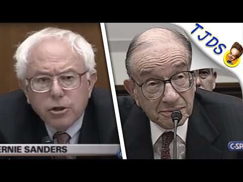 Bernie Sanders Shreds Alan Greenspan To His Smug Face