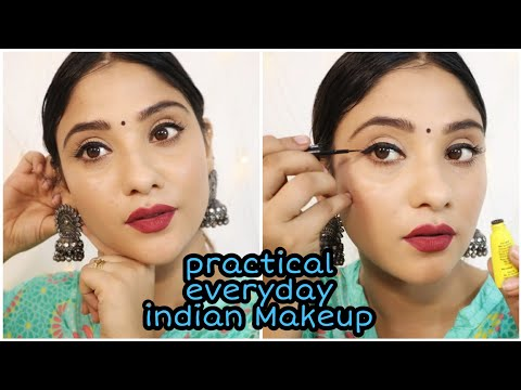 Step by step :Everyday practical Indian makeup tutorial ||