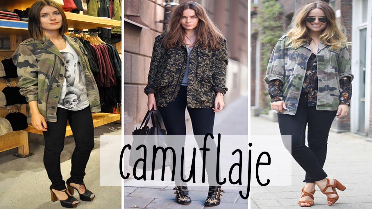 Outfit mujer Chaqueta MILITAR Camuflaje estilo urbano - YouTube