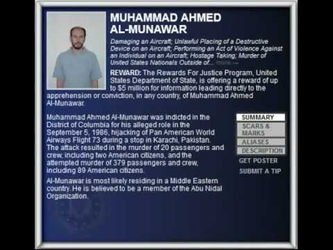 FBI Wanted 2012 - MUHAMMAD AHMED AL-MUNAWAR ($5.000.000 Reward)