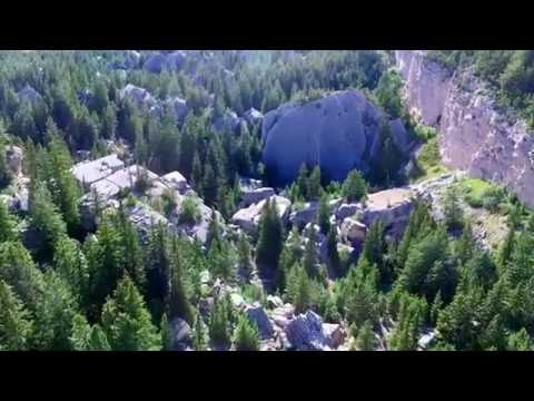 Fallen City, Big Horn Mountains Wyoming drone flying