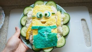 Minions Despicable Me food recipes - Learn make easy Bento Lunch Box DIY