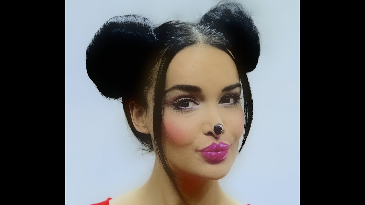 Makeup E Capelli Minnie Mouse Idea Carnevale Youtube