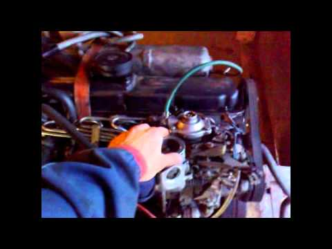 Volvo 740 D24T engine running (out of car).avi
