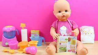 Bebé Nenuco MERIENDITAS come papilla | La Bebé está malita | Baúl con accesorios de Nenuco thumbnail