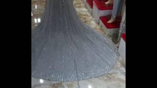 Designer Bridal Long Trail Valima Dress