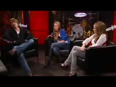 Miley Cyrus Emily Osment and Billy Ray Cyrus Interview each other