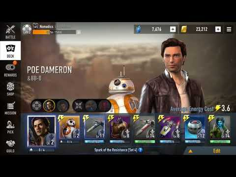 Star Wars Force Arena: POE D. Flying High. Dropping bombs