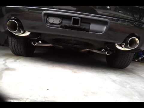 2011 Dodge Durango R/T custom exhaust - YouTube