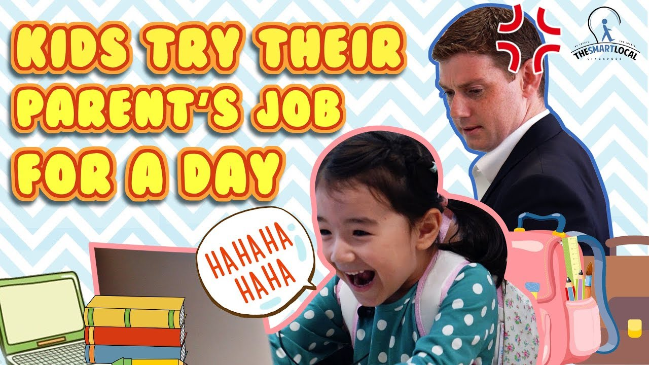 KIDS TRY THEIR PARENT'S JOB FOR A DAY
