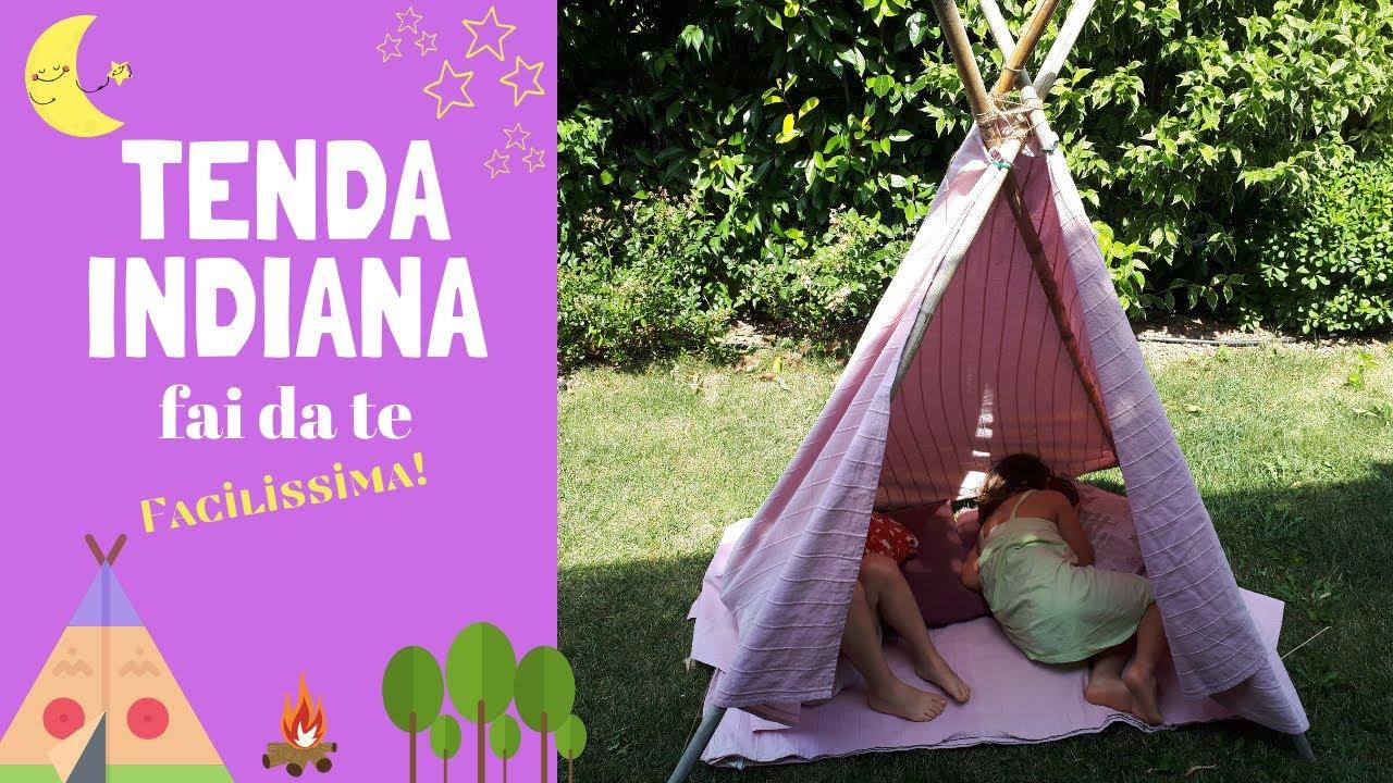 Tenda Indiani Fai Da Te tenda indiana - teepee diy facilissima!/ bimbi creativi