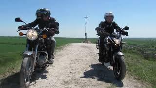 Нарезка поездки на Меловые Горы Bajaj Boxer100/Pulsar200