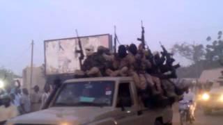 Arrivée soldats tchadiens à Kousseri, Cameroun 17-01-2015