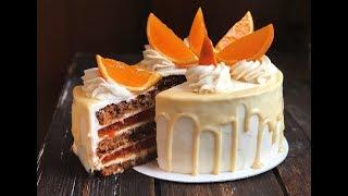 Морковный торт с сырным кремом и апельсиновым джемом