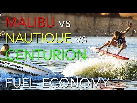 Malibu vs Nautique vs Centurion Fuel Efficiency 2018