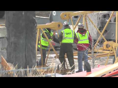 Tower Crane Stands Tall Over Downtown St. Cloud For Parking Ramp Construction [VIDEO]
