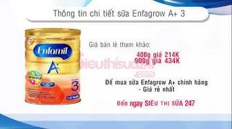 Enfagrow 3 | Sữa Enfa 3 dành cho trẻ 1 - 3 tuổi mới nhất