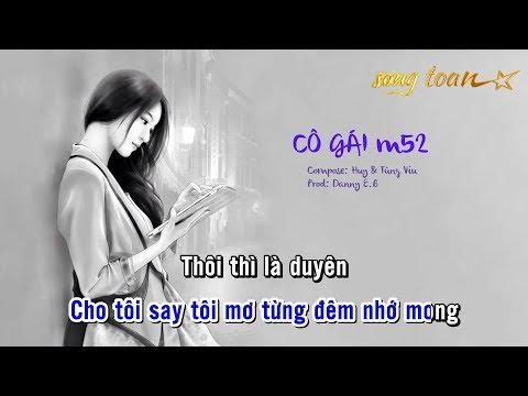 [Karaoke] CÔ GÁI M52 - Huy, Tùng Viu, Danny E.B | Beat Chuẩn Dễ Hát