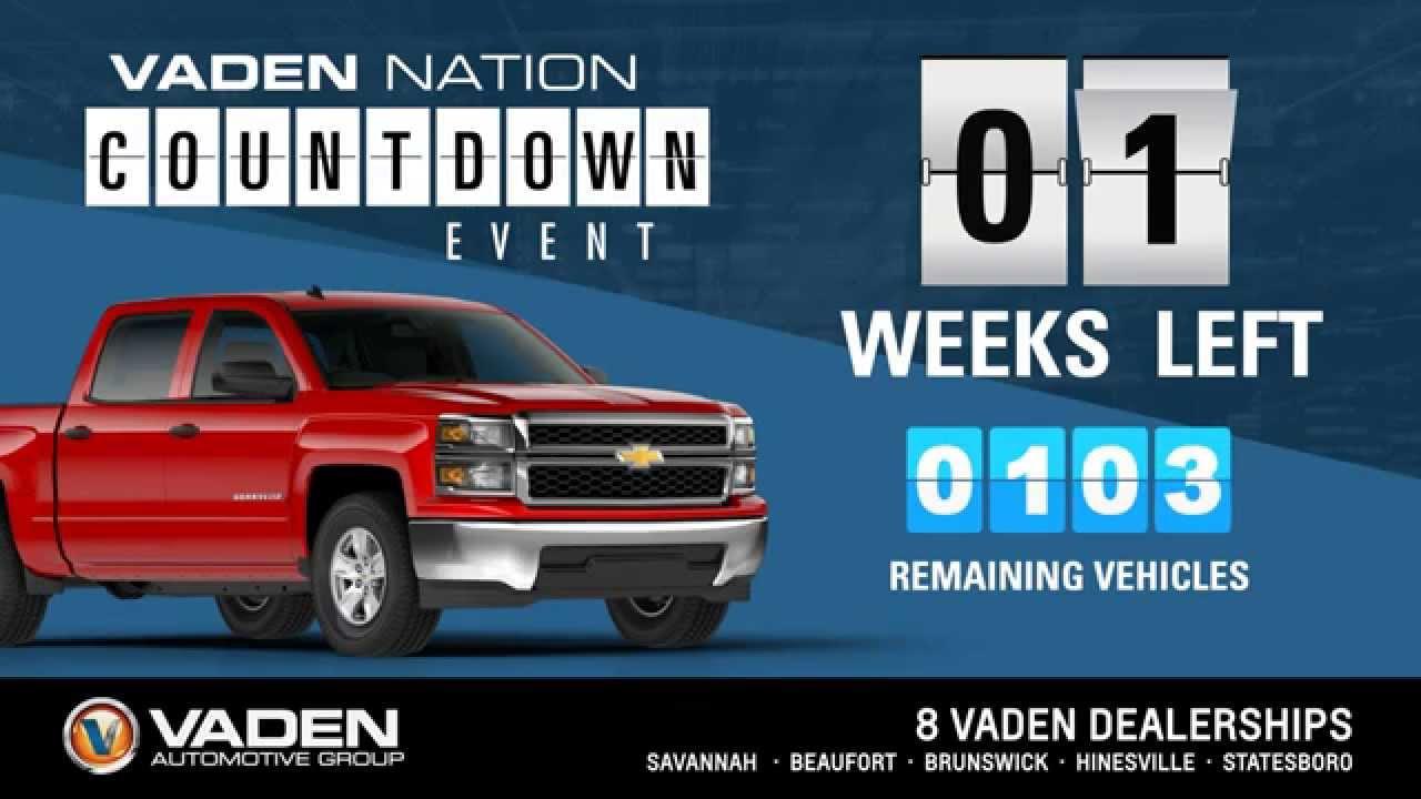 Dan Vaden Chevrolet Cadillac of Brunswick: Vaden Nation Countdown ...