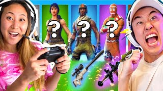 RANDOM FORTNITE SKIN CHALLENGE with STOVE!!