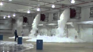 Landmark Sprinkler Aircraft Hangar Foam Fire Suppression Test
