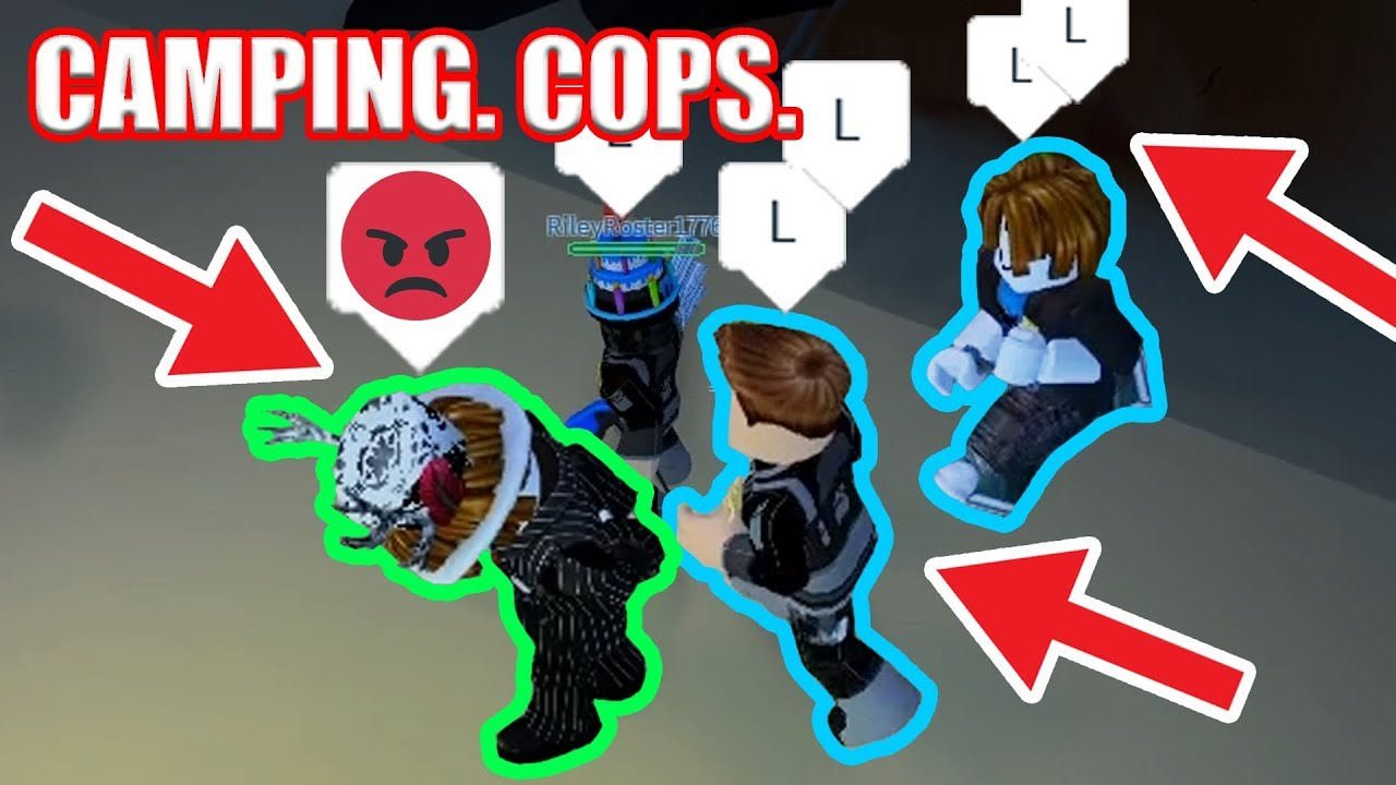 The Worst Camping Cops Ever Roblox Jailbreak Youtube - no cops free for all roblox jailbreak youtube