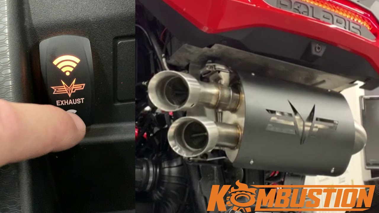 captains choice rzr turbo exhaust with a switch
